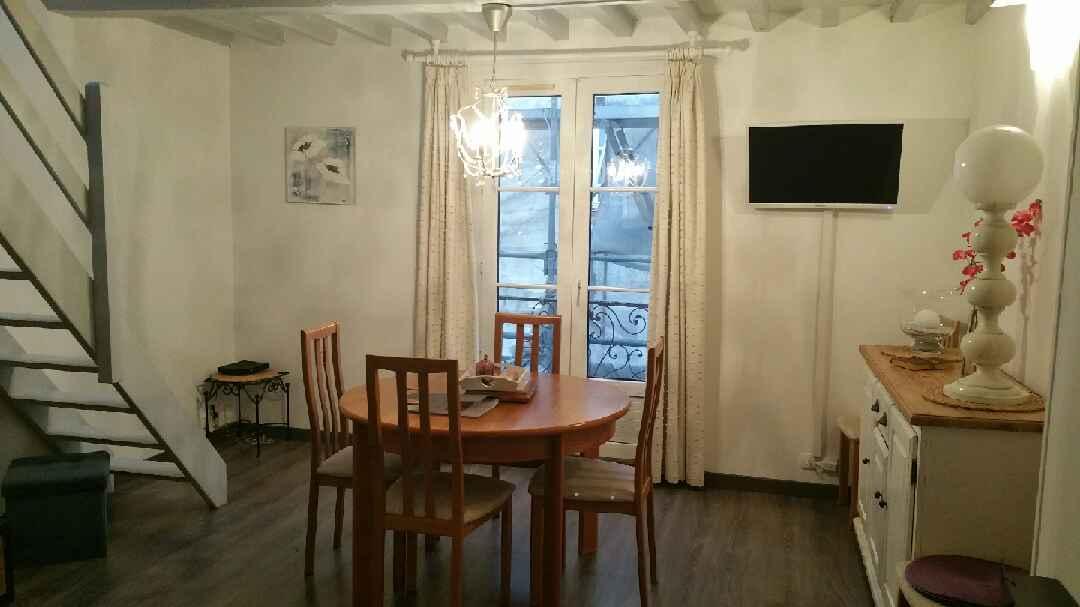Intérieur de l'appartement kaleho location front de mer de la Seine-Maritime